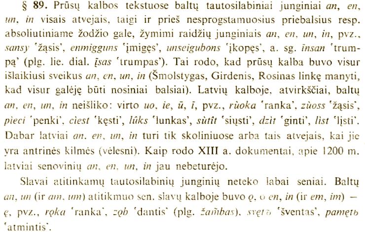 Aleksas Girdenis ir Albertas Rosinas nepripažino nosinių balsių kilmės iš dvibalsių su n.